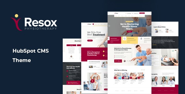 Resox - Physiotherapy HubSpot Theme - Retail HubSpot CMS Hub