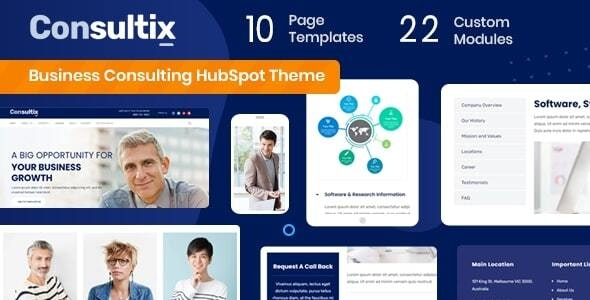 Consultix - Business Consulting HubSpot Theme - Corporate HubSpot CMS Hub