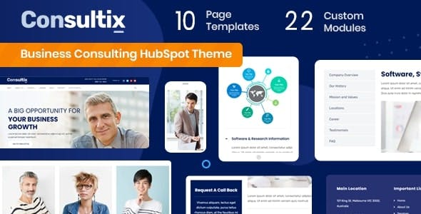 Consultix - Business Consulting HubSpot Theme