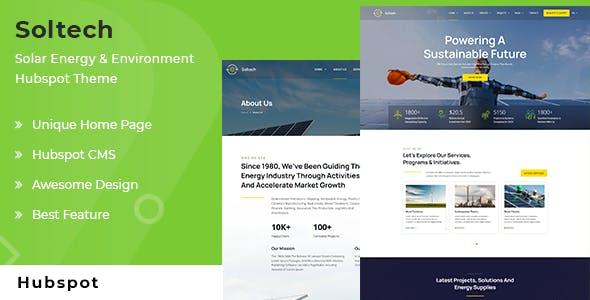 Soltech - Solar Energy and Environment HubSpot Theme