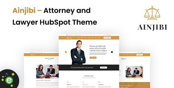 Ainjibi – Attorney and Lawyer HubSpot Theme