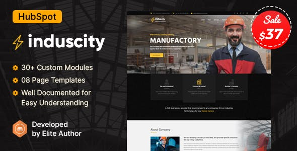 Induscity - Factory & Manufacturing HubSpot Theme