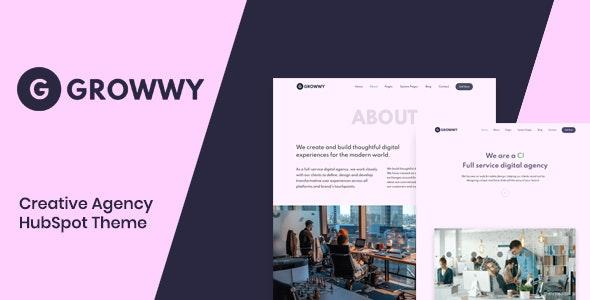 Growwy - Creative Agency HubSpot Theme - Creative HubSpot CMS Hub