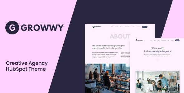 Growwy - Creative Agency Hubspot Theme
