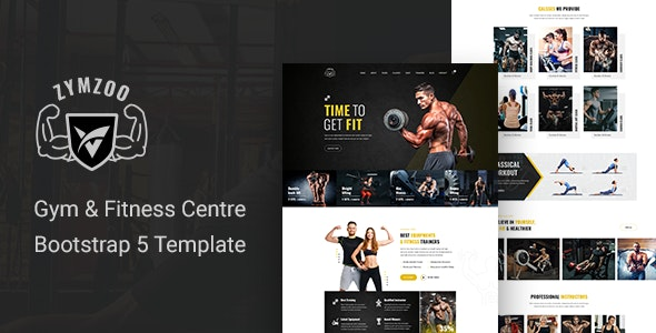 Zymzoo - Gym & Fitness Centre Bootstrap 5 Template - Health & Beauty Retail