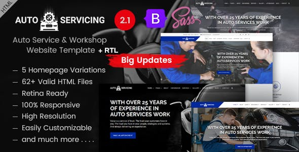 AutoServicing & Garage Operations HTML Template