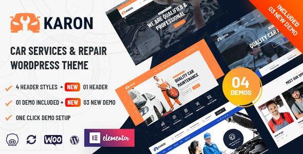 Karon - Car Repair and Service WordPress Theme - Business Corporate