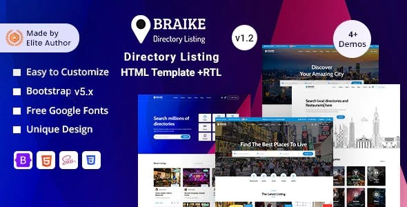Braike - Directory & Listing Bootstrap 5 Template