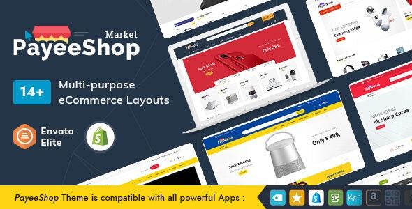 PayeeShop - Shopify Multi-Purpose Responsive Theme - Technology Shopify