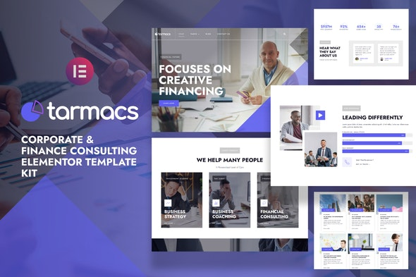 Tarmacs - Corporate & Finance Consulting Template Kit - Business & Services Elementor