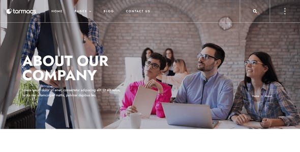 Tarmacs - Corporate & Finance Consulting Template Kit