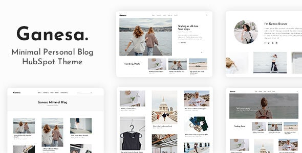 Ganesa - Minimal Personal Blog HubSpot Theme - Blog / Magazine HubSpot CMS Hub