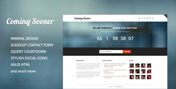 Coming Sooner - Creative Under Construction Templa