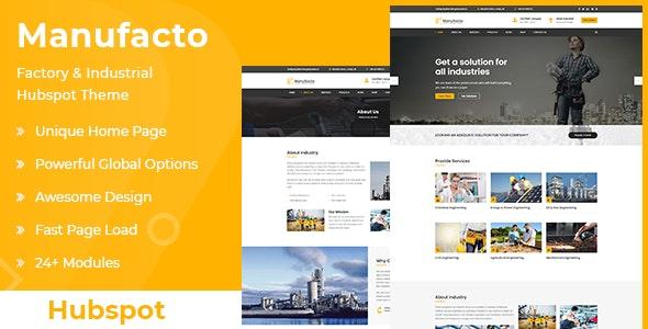 Manufacto   Factory & Industrial Hubspot Theme - Corporate HubSpot CMS Hub