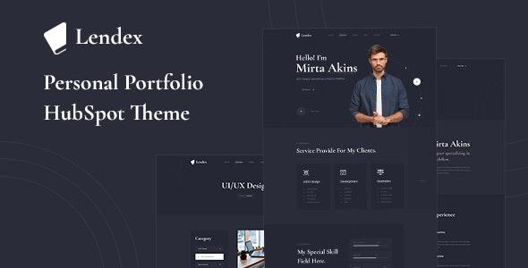 Lendex - Personal Portfolio HubSpot Theme - Creative HubSpot CMS Hub