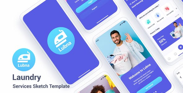 Lubna – Laundry Services Sketch Template