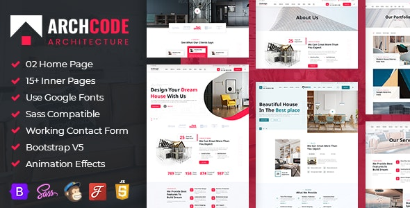 ArchCode - Architecture Bootstrap 5 HTML Template - Creative Site Templates