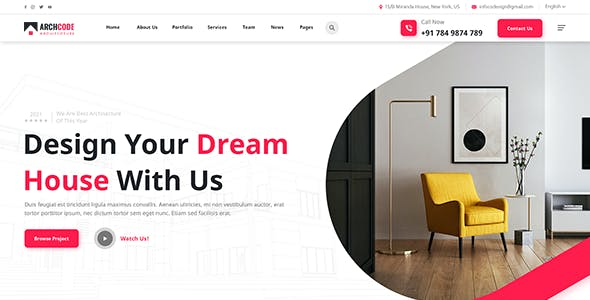 ArchCode - Architecture Bootstrap 5 HTML Template
