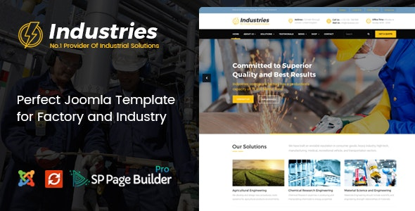 Industries - Factory, Engineering Company, Industrial Business Joomla Template - Business Corporate