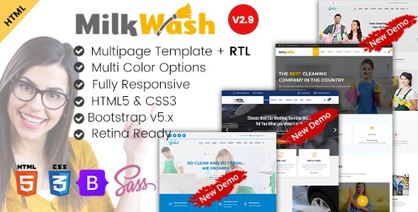 Cleaning Service Company HTML Template - MilkWash - Miscellaneous Specialty Pages