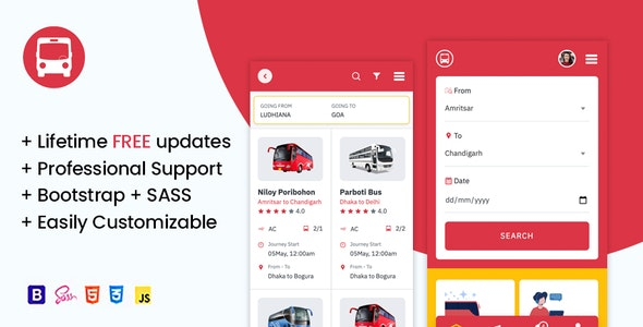 OsahanBus - Bus Booking HTML Mobile Template - Travel Retail