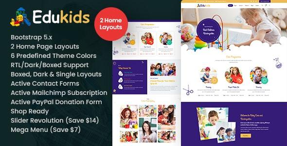 Edukids - Children Kidergarten HTML - Business Corporate