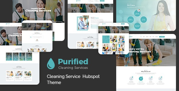Purified - Cleaning Service HubSpot Theme - Corporate HubSpot CMS Hub