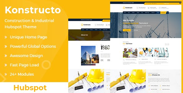 Konstructo - Construction and Architecture Hubspot Theme