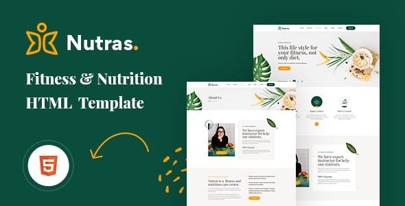 Nutras - Fitness & Nutrition Bootstrap 5 Template