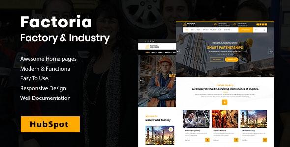 Factoria - Factory & Industry HubSpot Theme - HubSpot CMS Hub CMS Themes