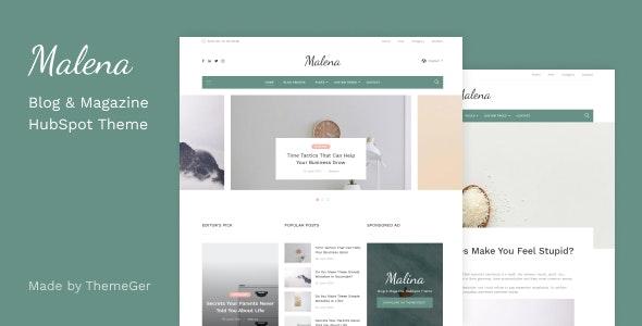 Malena - Blog & Magazine HubSpot Theme - Blog / Magazine HubSpot CMS Hub