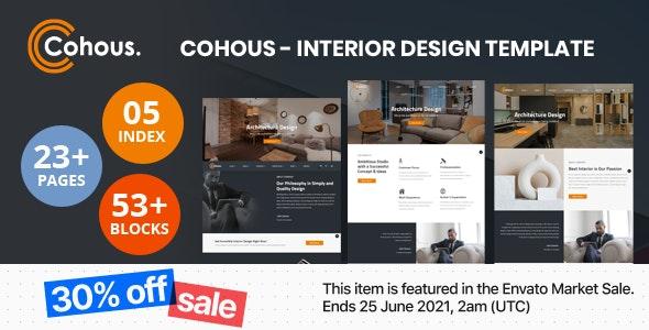 Cohous - Interior Design Template - Business Corporate