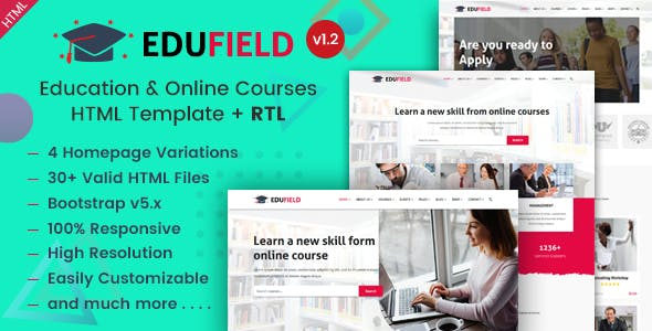 Education & Online Courses HTML Template - EduField