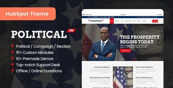 PoliticalHB - Campaign & Election HubSpot Theme