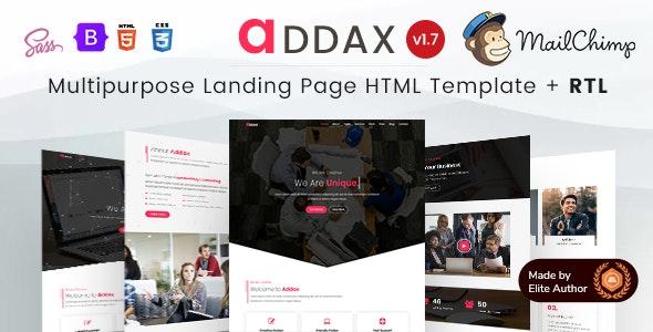 Addax - Multi-Purpose Landing Page HTML Template - Business Corporate