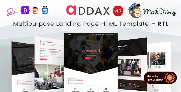 Addax - Multi-Purpose Landing Page HTML Template