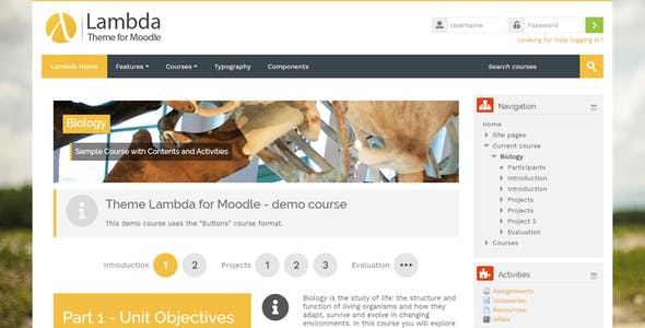Lambda - Responsive Moodle Theme