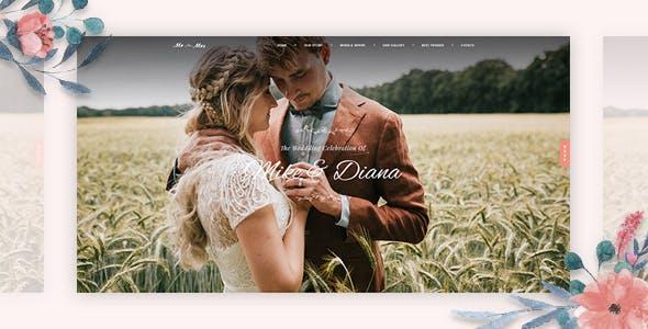 Sweetinz - Creative OnePage Wedding WordPress Theme