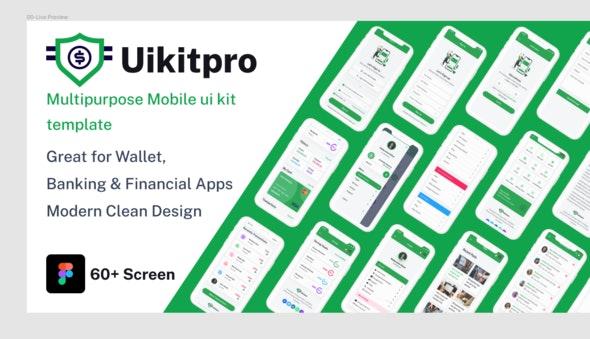 UikitPro - Multipurpose Wallet & Banking Figma Mobile Template - Technology Figma
