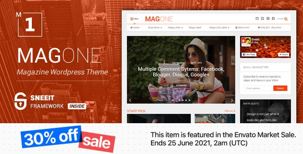 MagOne - Responsive Magazine & News WordPress Theme - News / Editorial Blog / Magazine