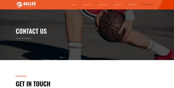 Baller – Basketball Team & Sports Club Elementor Template Kit