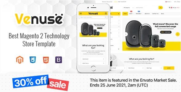 Venuse - Responsive Hitech/Digital Magento 2 Store Theme - Shopping Magento
