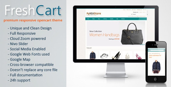 FreshCart - Responsive Fashion OpenCart Template - Fashion OpenCart