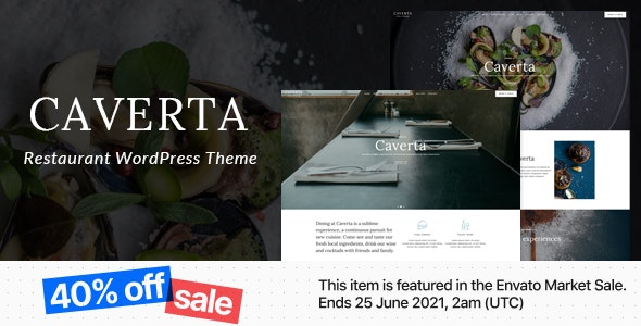 Caverta - Fine Dining Restaurant WordPress Theme - Restaurants & Cafes Entertainment