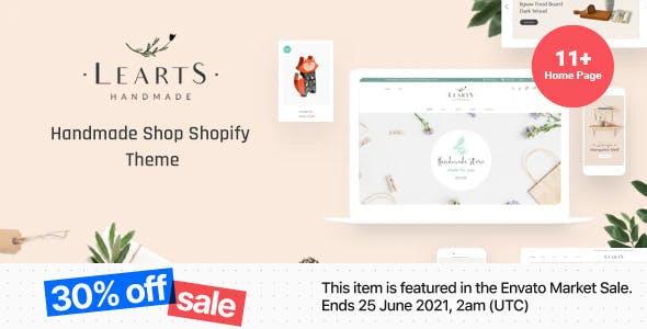 LeArts – Handmade Shop Shopify Theme