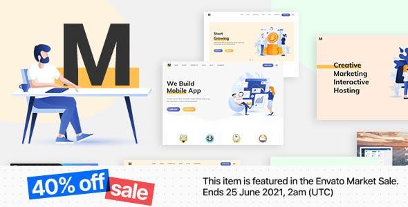 Milu - Tech and App Landing Page WordPress Theme