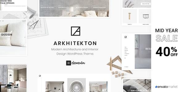 Arkhitekton - Modern Architecture and Interior Design WordPress Theme - Portfolio Creative