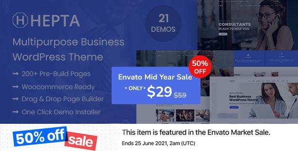 Hepta - Multipurpose Business WordPress Theme - Business Corporate