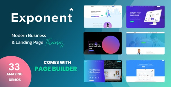 Exponent - Modern Multi-Purpose Business WordPress theme - Business Corporate