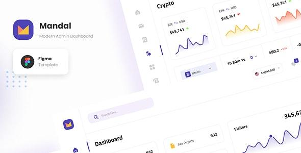 Mandal - Clean Modern Admin Dashboard Template Figma - Miscellaneous Figma